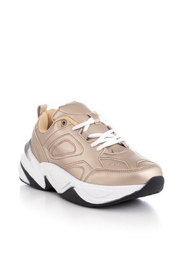 Tonny Black Gold Kadın Spor Ayakkabı Tb418  Altın